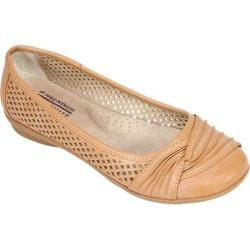 Women's Cliffs by White Mountain Harlyn Perforated Flat Tan Burnished Smooth Polyurethane