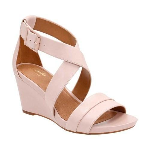 10828a28d31 Shop Women s Clarks Acina Newport Cross Strap Wedge Dusty Pink Cow Full  Grain Leather - Free Shipping Today - Overstock - 14549681