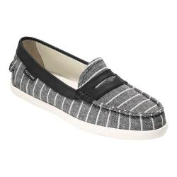 Women's Cole Haan Pinch Weekender Loafer Black White Stripe/Black Leather