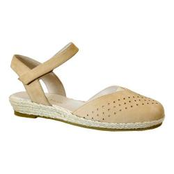 Women's David Tate Canyon Quarter Strap Espadrille Natural Nubuck (More options available)