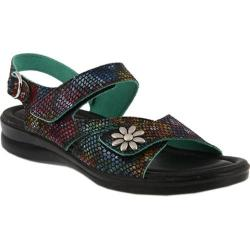 Women's Flexus by Spring Step Mukava Quarter Strap Sandal Black Multi Leather|https://ak1.ostkcdn.com/images/products/175/160/P21100560.jpg?impolicy=medium
