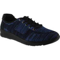 Women's Flexus by Spring Step Popsanda Printed Sneaker Blue Textile