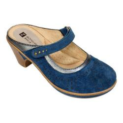 Women's White Mountain Gull Mule Navy Nubuck