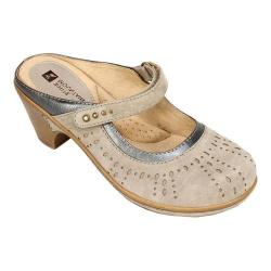 Women's White Mountain Gull Mule Stone Nubuck