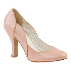 Women's Pin Up Smitten 04 Pump Baby Pink Faux Leather