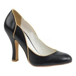 Women's Pin Up Smitten 04 Pump Black Faux Leather