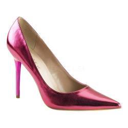 Women's Pleaser Classique 20 Pump Pink Metallic PU