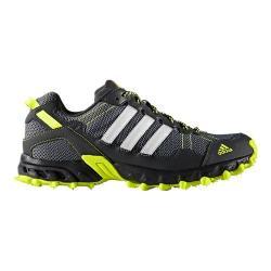 Men's adidas Rockadia Trail Running Shoe Dark Grey/FTWR White/Solar Yellow
