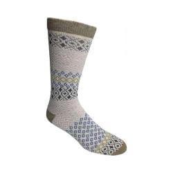 Women's Woolrich Novelty Aztec Design Sock (2 Pairs) Khaki/Winter White