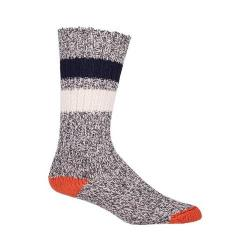 Woolrich Rugby Stripe Camp Sock (2 Pairs) Charcoal/Marl