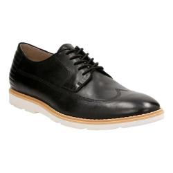 Men's Clarks Gambeson Style Wing Tip Oxford Black Leather