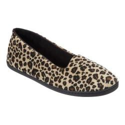 Women's Dearfoams Microfiber Velour Indoor/Outdoor Slipper Leopard