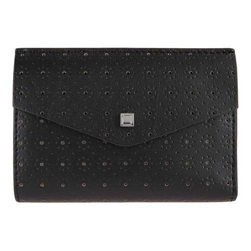 68c15aedd9e4 Shop Women's Lodis Blair Perforated Rachel French Purse Black/Taupe - Free  Shipping Today - Overstock - 14582459