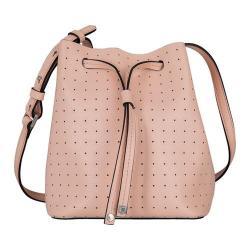 Women's Lodis Blair Perforated Blake Small Drawstring Bucket Bag Blush/Taupe