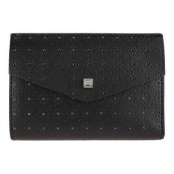 Women's Lodis Blair Perforated Rachel French Purse Black/Taupe