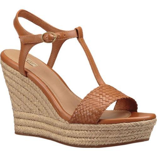 dedd7c9afa Shop Women's UGG Fitchie II Wedge Sandal Chestnut Leather - Free Shipping  Today - Overstock - 14582538
