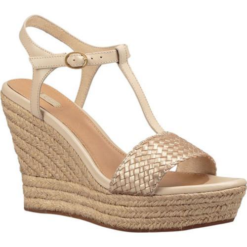 64a172cfd7 Shop Women's UGG Fitchie II Wedge Sandal Soft Gold Leather - Free Shipping  Today - Overstock - 14582539