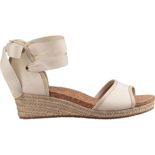 Shop Women S Ugg Amell Ankle Tie Sandal Canvas Stone