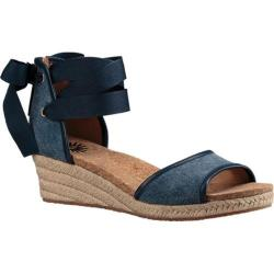 Women's UGG Amell Ankle Tie Sandal Marino Stone Washed Canvas