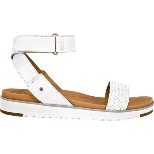 e553a1c4c36 Women's UGG Laddie Ankle Strap Sandal White Leather