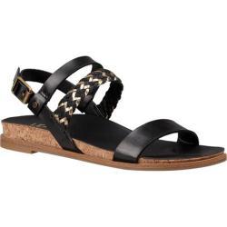 Girls' UGG Jayna Metallic Sandal Black Faux Leather