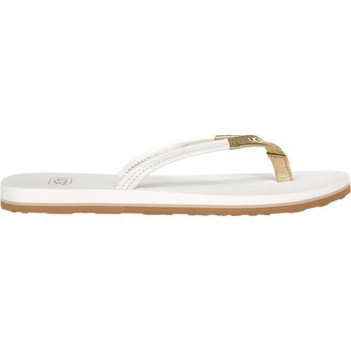 86100fc6be1 Women's UGG Magnolia Flip Flop Water Lily/Gold Leather
