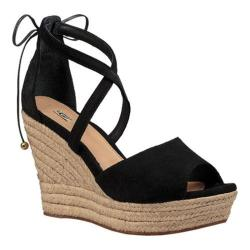 Women's UGG Reagan Wedge Sandal Black Suede