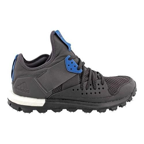 Gli uomini è adidas risposta tracce scarpa nera nera / nucleo blu / utilità