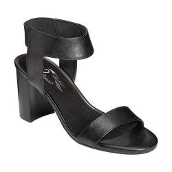 Women's A2 by Aerosoles High Hat Sandal Black Faux Leather