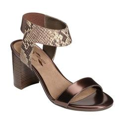 Women's A2 by Aerosoles High Hat Sandal Bronze Combo Snake Printed Faux Leather
