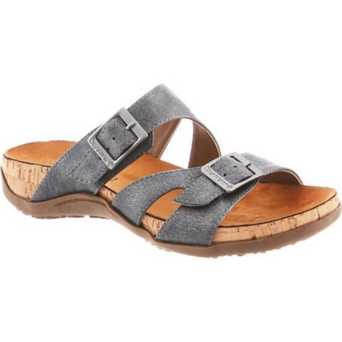 Women's Bearpaw Maddie Sandal Charcoal Synthetic
