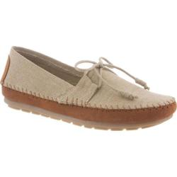Women's Bearpaw Giovanna Moccasin Natural Canvas