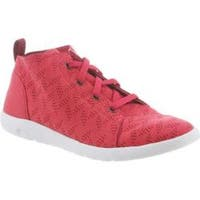 Women's Bearpaw Gracie High Top Sneaker Rose Microsuede