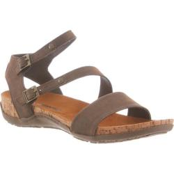 Women's Bearpaw Kourtney Strappy Cork Sandal Dark Brown Microsuede