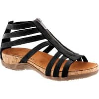Women's Bearpaw Layla Caged Sandal Black Synthetic