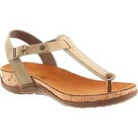 Women's Bearpaw Mila Thong Sandal Taupe Synthetic