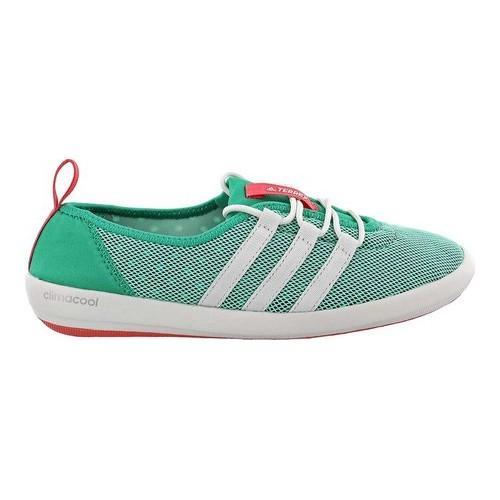 2d63e695bf9cb3 Shop Women s adidas Terrex Climacool Boat Sleek Water Shoe Core Green Chalk  White Tactile Pink - Free Shipping Today - Overstock - 14538907
