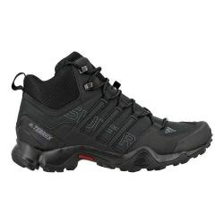 Men's adidas Terrex Swift R Mid Hiking Boot Black/Black/Dark Grey