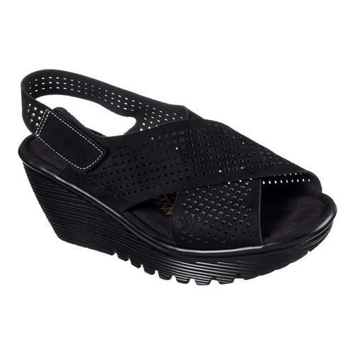2e7a35f1b7f9 Shop Women s Skechers Parallel Infrastructure Platform Slingback Black -  Free Shipping Today - Overstock - 14589772