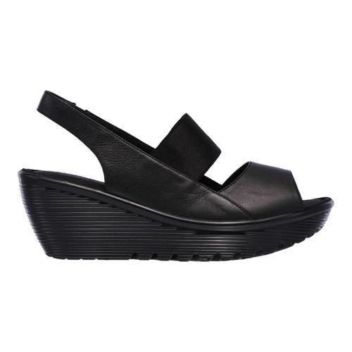 Shop Women S Skechers Parallel Strut Platform Wedge Sandal