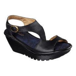Women's Skechers Parallel Structure Platform Wedge Sandal Black - Thumbnail  ...