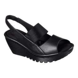 Women's Skechers Parallel Strut Platform Wedge Sandal Black