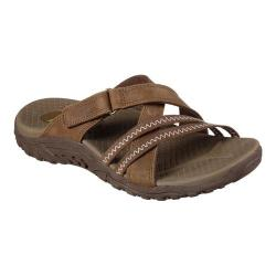 Women's Skechers Reggae Captive Slide Desert Brown