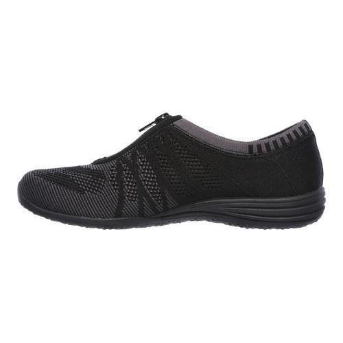 ... Women's Skechers Unity Transcend Zip-Up Sneaker Black/Charcoal