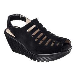 Women's Skechers Parallel Trapezoid Platform Wedge Sandal Black