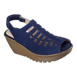 Women's Skechers Parallel Trapezoid Platform Wedge Sandal Navy