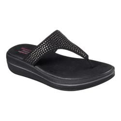 Women's Skechers Relaxed Fit Upgrades Stones Thong Black
