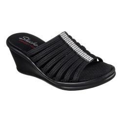 Women's Skechers Rumblers Hotshot Wedge Slide Black