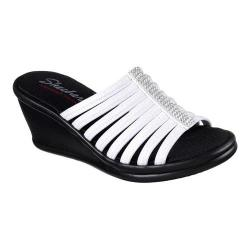Women's Skechers Rumblers Hotshot Wedge Slide White