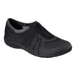 Women's Skechers Unity Transcend Zip-Up Sneaker Black/Charcoal
